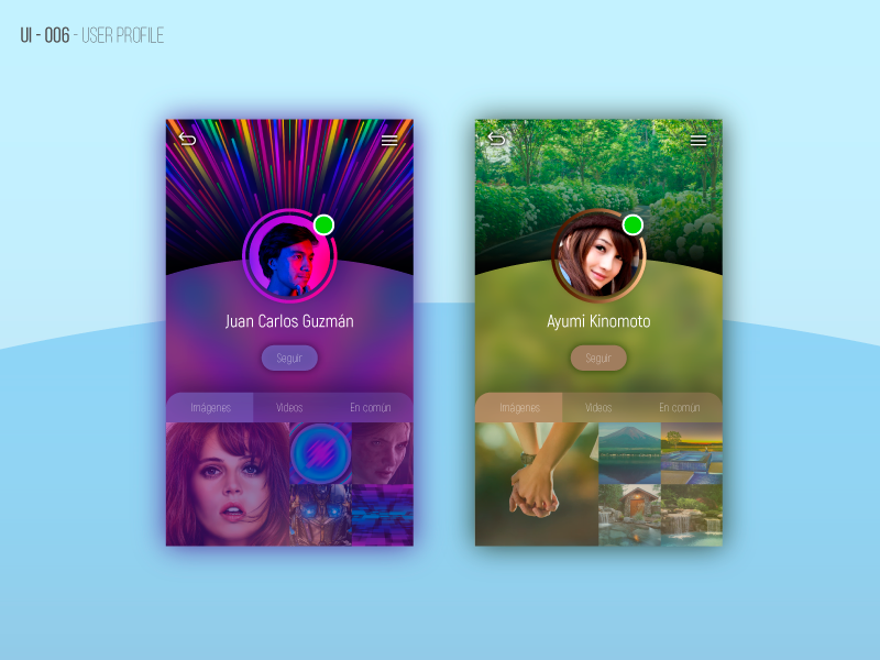 Ui Design - User Profile