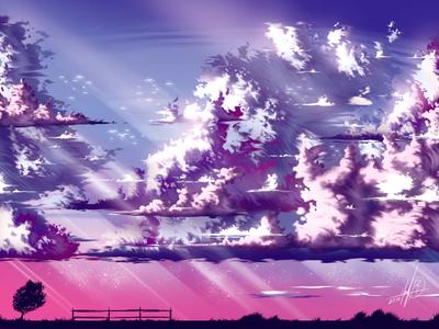 Clouds - Digital Illustration