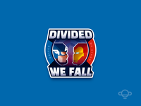 Hero Badge Design - Divided We Fall