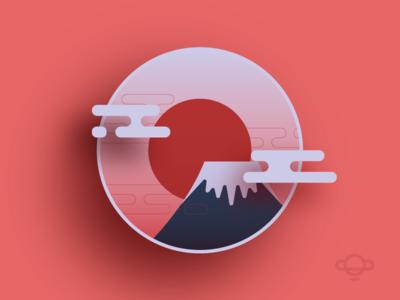 Badge Design - Mount Fuji