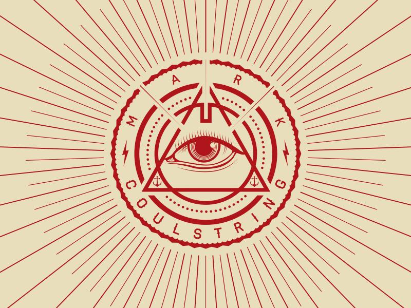 Personal Branding logo illuminati eye branding anchor seal triangle arrow lightning bolt