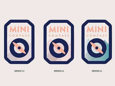 MINI COMPAS | Logo | Variations travel compass minimalistic logo