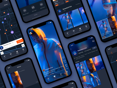 New version of OKA design camupus sport black icon app ui
