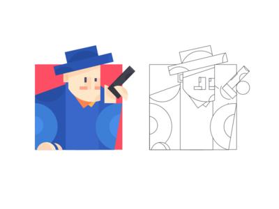 Shooter 插画、ui