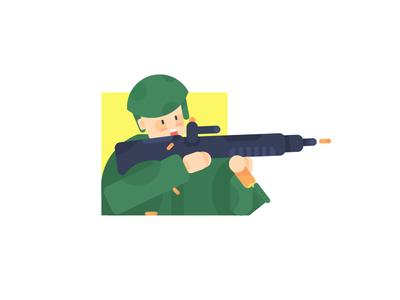 Soldier 插画、ui