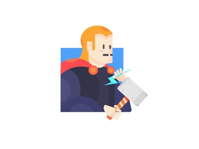 Thor 插画、ui