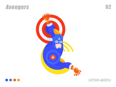 Captain America 插画、ui