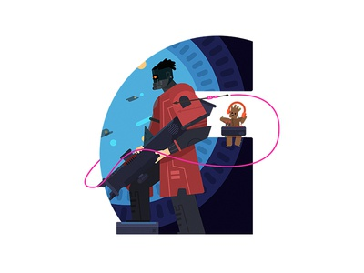 Guardians of the Galaxy 插画、ui