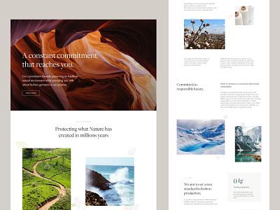 Sustainability E-commerce Design V.1 webdesign clean uidesign images photos colors minimal design e-commerce sustainability