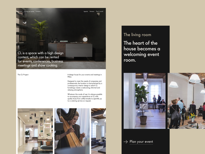 Website Layout Exploration V.4 spaceship clean furniture landing webdesign explore discover web white minimal