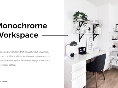 Interior Workspace web ui clean webdesign white workspace desk interior minimal