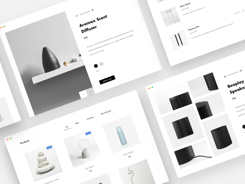 Minimal shop white explore minimalistic web design web landing products shop minimal