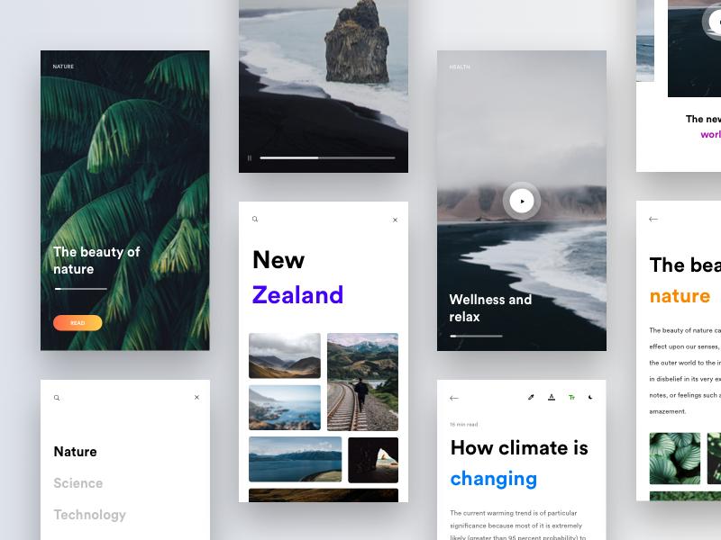 News & Video App discover profile minimal ios white minimalist nature play app documentaries video news