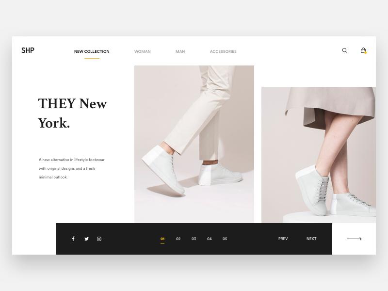 by Nicola Baldo. Save  Like. THEY. brown white web design web minimal  explore shoe product e-commerce fashion 2df74393758