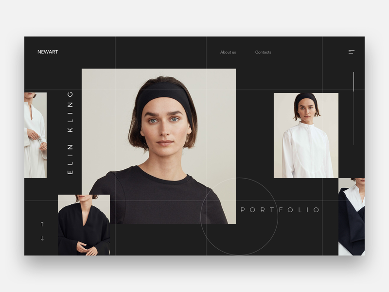 Newart minimal white web explore discover ui webdesign brown ux landing