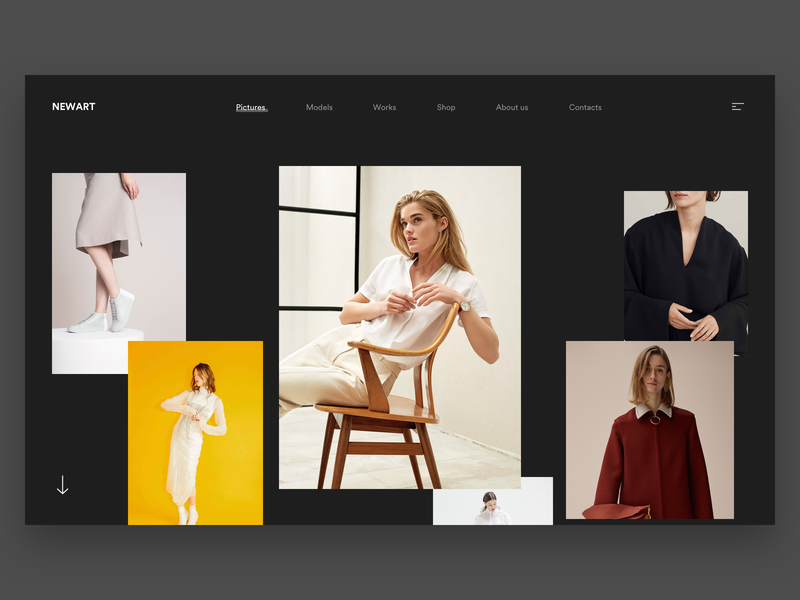 Newart - Collection minimal uiux ui layout webdesign landing web explore discover brown