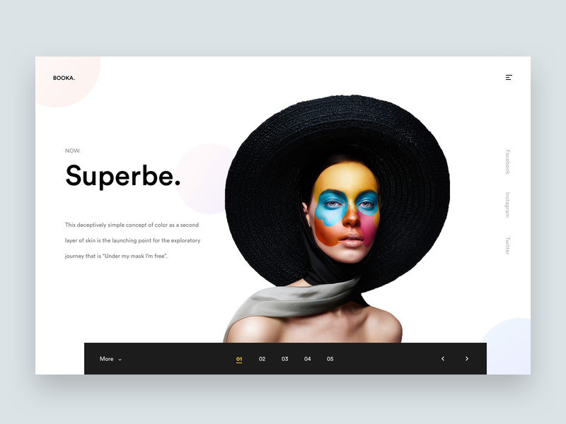 Superbe web landing template portfolio website webdesign layout minimal fashion model