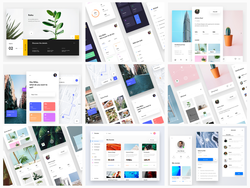 The Best Nine of 2018 web app minimal trends best of top shots nine best 2018