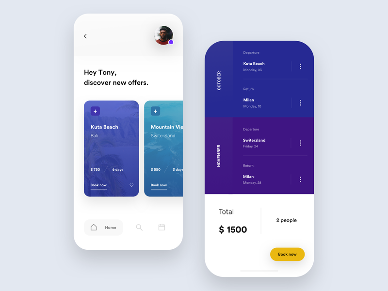 Trip App Exploration ui colors white minimal app exploration visual holiday trip