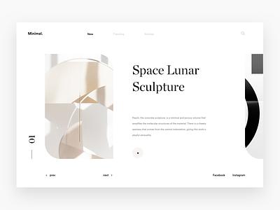 Minimal. gallery concept landing minimalism minimalistic discover web white minimal