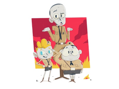 Jojo yimbo hittler jojo rabbit illustration character 2d