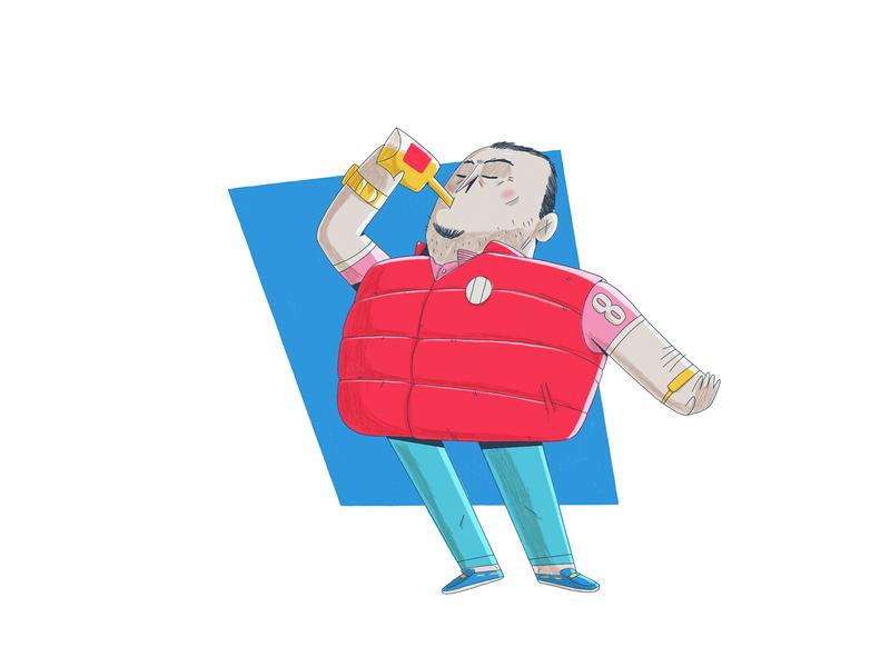 Enchalecados vest illustration character 2d
