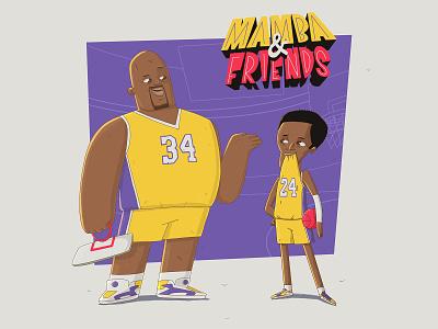 Mamba & Friends kobe bryant shaq black mamba mamba kobe illustration character 2d