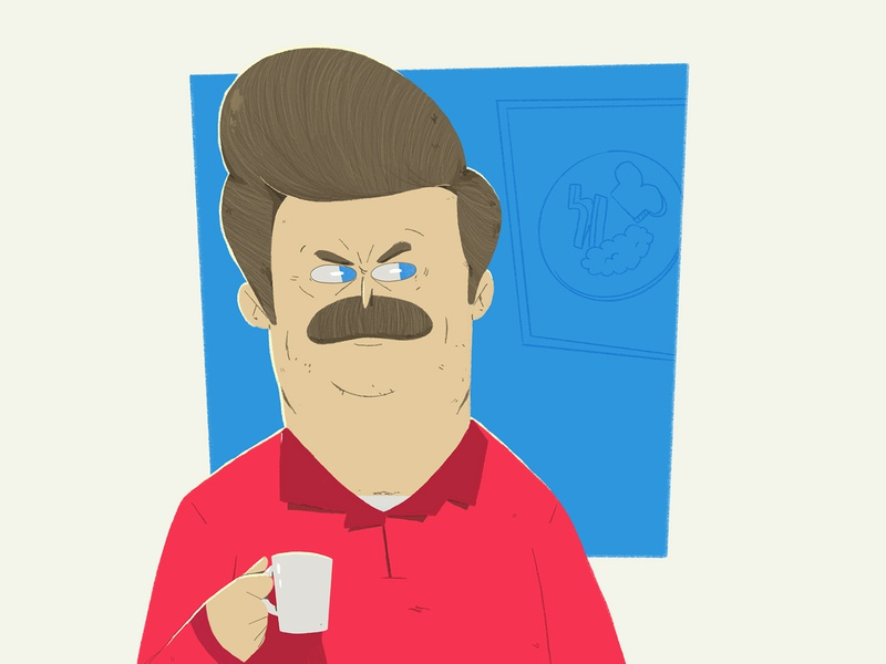 Parks & Rec leslie knope ron swanson april ludgate andy dwyer parks and recreation parks and rec yimbo illustration character 2d