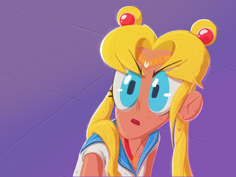 Sailor Moon sailormoonredraw serena sailor moon yimbo illustration character 2d