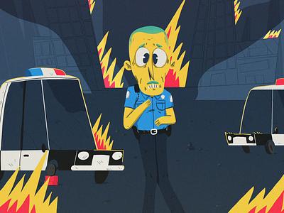 The watchmen cel animation illustration yimbo character loop animation 2d blm