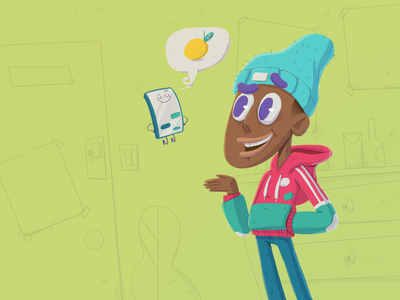 Mr Lemonade guy cellphone cell hoodie yimbo character 2d