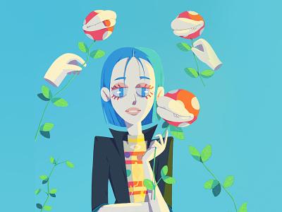 Pam dtiys illustration gif character 2d