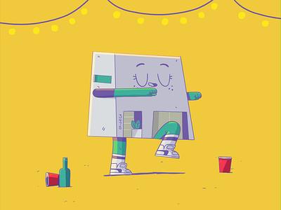 Casita Dance cel animation illustration yimbo gif character loop animation 2d
