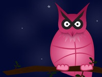 The lesser spotted Dribbble owl