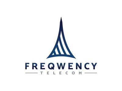 Freqwency Telecom Logo a b c d e f g h i j k l m n  o p q r s t u v w x y z wifi mobile construction creative logo mark transmission telecommunication tower frequency telecom freqwency