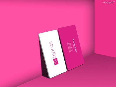 Business Card Design modern professional creative studio invite invitation pink debut promotional clean card business card