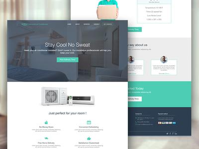 Landing Page website navigation interface design webdesign clean page landing flat web website landing page ui