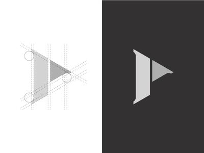 P Monogram construction line art amitspro lettering design progress lineart branding type monogram icon mark logo letter p