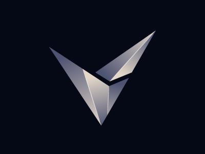Sleek V Letter Design