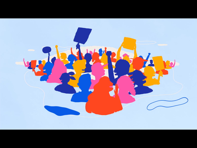 The History of Women's Rights - Crowd scene motion graphic motion design illustration after effects adobe after effects frame by frame cel animation motiongraphics motiondesigner motiondesign 2d animation