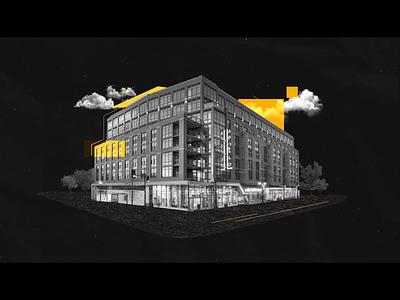 3DStock by UCL - Building Scene adobe illustrator motion graphic motion design illustration after effects adobe after effects motiongraphics motiondesigner motiondesign 2d animation