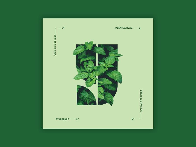 Type Y graphic design leaf tree green typeface poster poster design y inspiration typogaphy design post