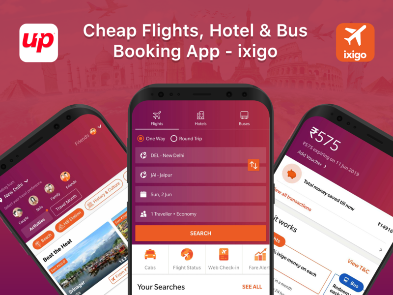 ixigo Mobile App for Flight, Hotel, Bus Booking mobile app design booking mobile app booking app app design mobile ui mobile app