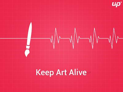Keep Art Alive design creative art