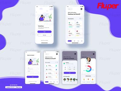 Educational Theme Mockup ux ui design app development app design