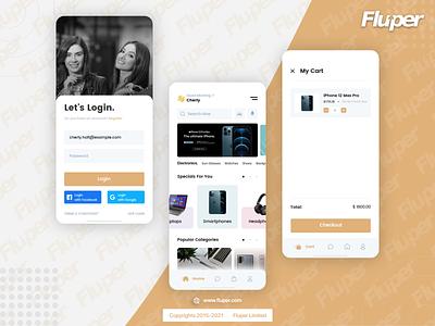Fluper creates the best shopping app! fluper ux ui app design design shopping apps apps