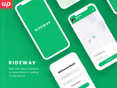 Create Ride Away Apps with Fluper design ux ui travelapps rideaway apps design apps