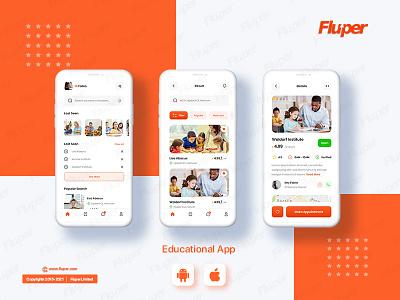 E-Learning Theme Mockup ux ui animation design app design