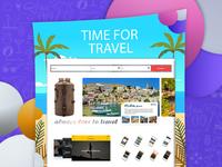 Travel App Screen Portfolio