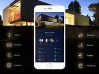 IOT Smart Home Screen